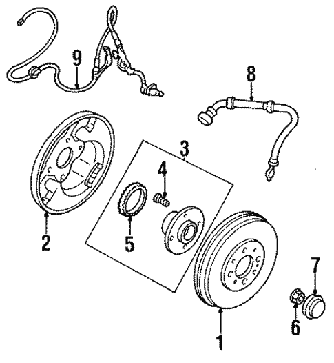Anti-Lock Brakes for 1997 Mazda Protege #0