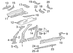 Outer Hinge Pillar - Mercedes-Benz (210-630-04-07)