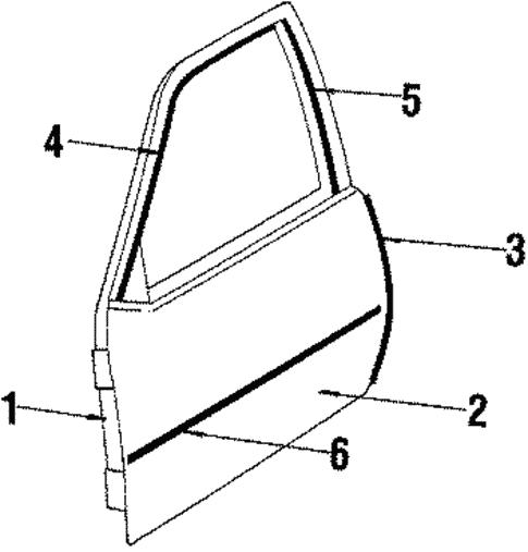 oem door  u0026 components for 1985 pontiac j2000 sunbird