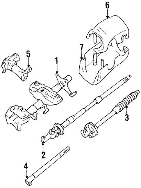 Genuine Oem Steering Column Components Parts For 1989 Toyota Pickup