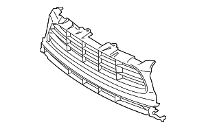 Center Grille - Porsche (95B-807-683-AH-OK1)