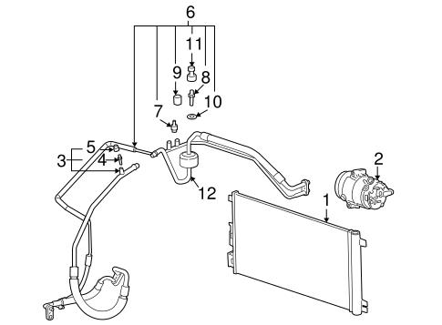Oem 2008 Pontiac G6 Condenser Compressor Lines Parts