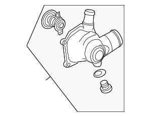 Thermostat Housing - Audi (079-121-115-E)