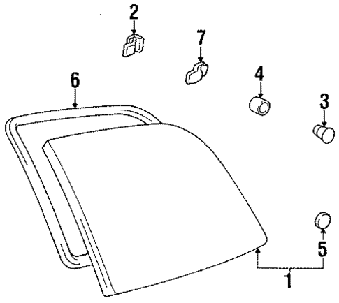 BODY/GLASS - SIDE PANEL for 1997 Toyota Previa #2