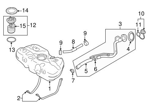 Fuel System/Fuel System Components for 2014 Nissan Versa #1