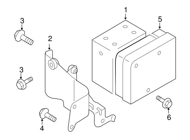Mazda ZZD1-43-7A0A ABS Modulator
