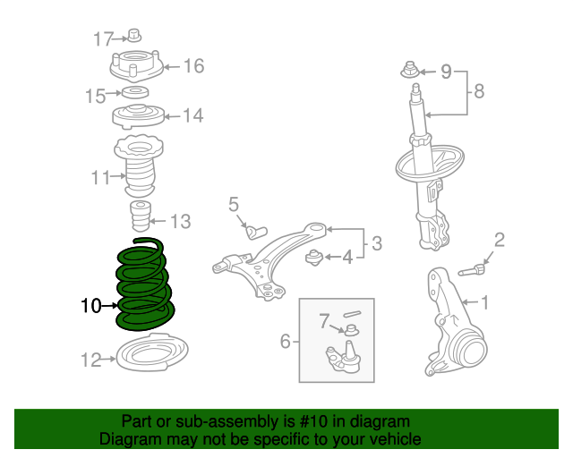 Toyota 48131-AA090 Coil Spring