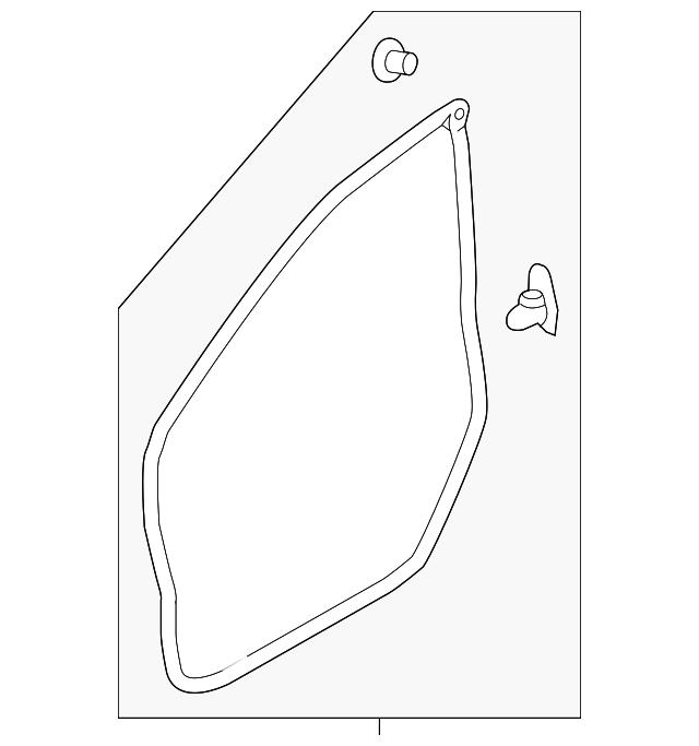 Genuine Subaru Belt Weather-Strip 62280VA010