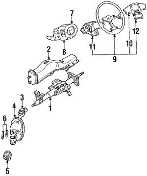 Genuine Hyundai 56120-38650-TI Steering Wheel Body Assembly
