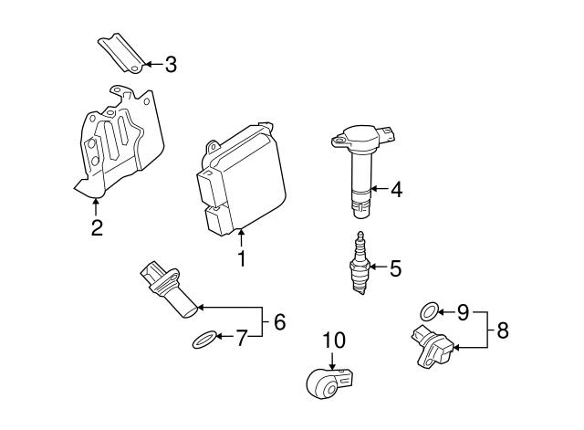 Mitsubishi Camshaft Position Sensor 1865a066