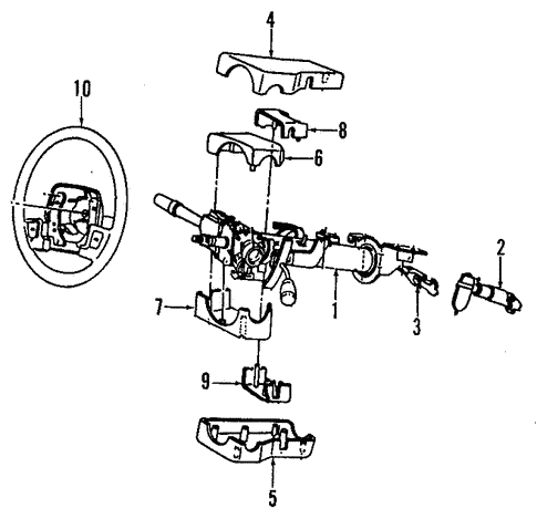 Steering Column for 1993 Chrysler Town & Country #0