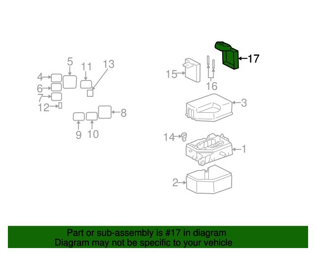 2000 2005 toyota echo fuse box cover 82621 52010 toyotaoftampabayparts toyota echo engine diagram fuse box cover toyota (82621 52010)