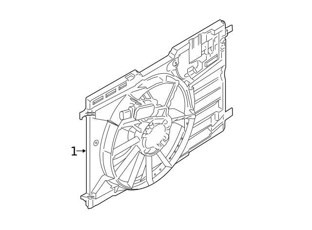 Genuine Ford Impact Bar KV6Z-6110852-B