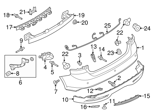 Ford Focus Bumper Diagram