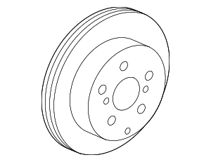 Disc Brake Rotor - Toyota (42431-78010)
