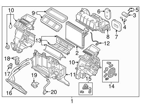 Evaporator Heater Components For 2017 Mazda Cx 3