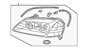 Headlight Unit, R - Acura (33101-S3M-A12)