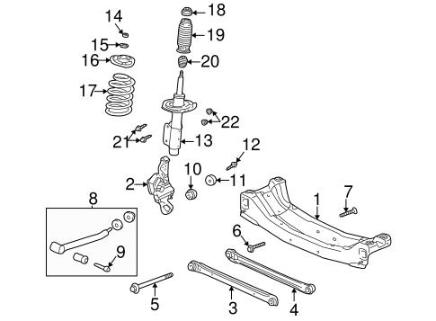 oem 2001 oldsmobile alero rear suspension parts. Black Bedroom Furniture Sets. Home Design Ideas