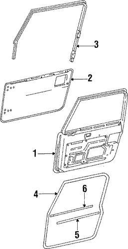 door  u0026 components for 1988 jeep wrangler parts
