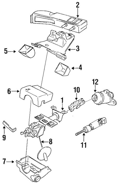 Steering Column Assembly For 1997 Dodge Intrepid