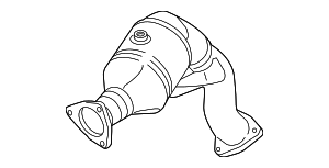 Catalytic Converter - Audi (4H0-254-252-X)
