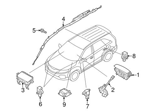 Air Bag Components for 2011 Kia Sorento #0