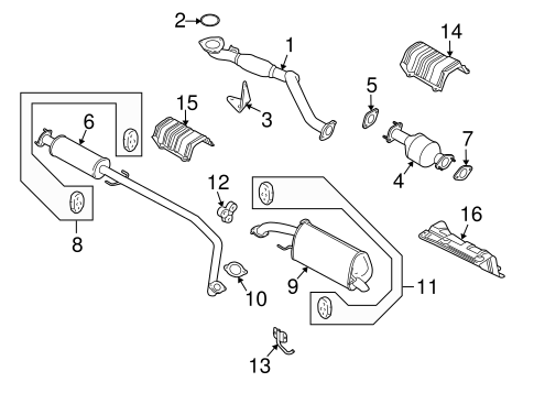 wiring diagram for 2011 chevrolet aveo 2011 chevrolet aveo engine diagram oem 2011 chevrolet aveo exhaust components parts ... #9