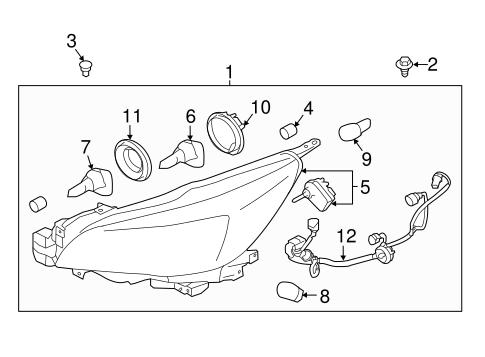 Headlamp Components For 2015 Subaru Legacy