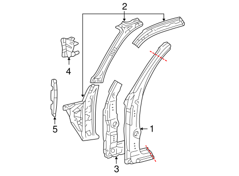 BODY/HINGE PILLAR for 2001 Toyota Tacoma #1