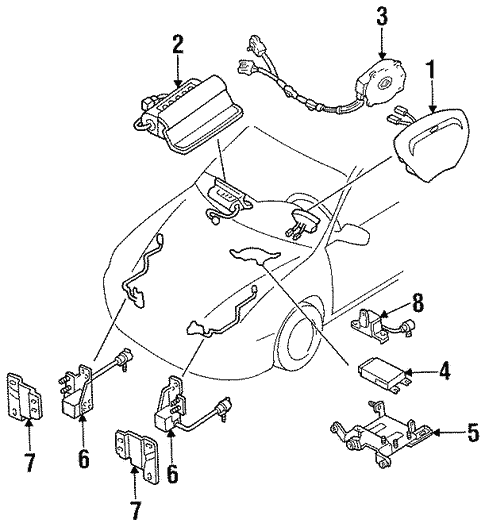 Air Bag Components For 1997 Ford Escort