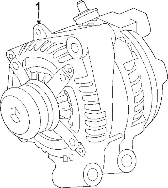 Alternator - Jaguar (C2D59622)