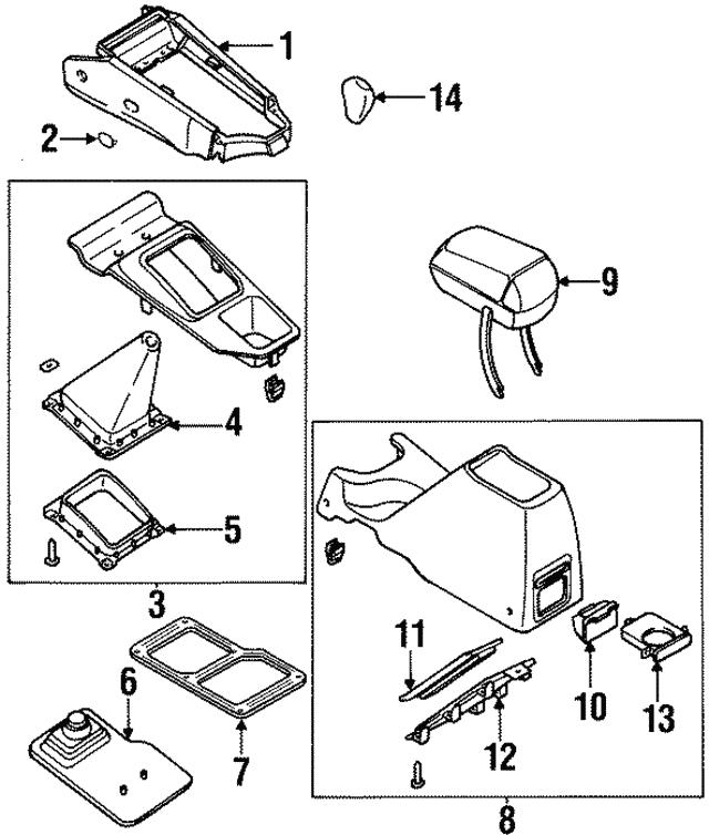 1998 2000 Kia Sportage Lid Assembly 0k08x 64420b96