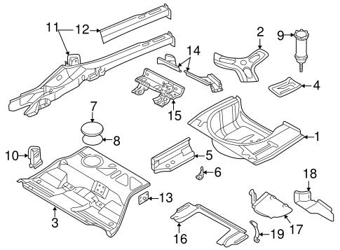 Rear Floor Rails For 2004 Volkswagen Passat