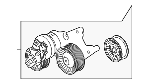Belt Tensioner - Land-Rover (LR091612)