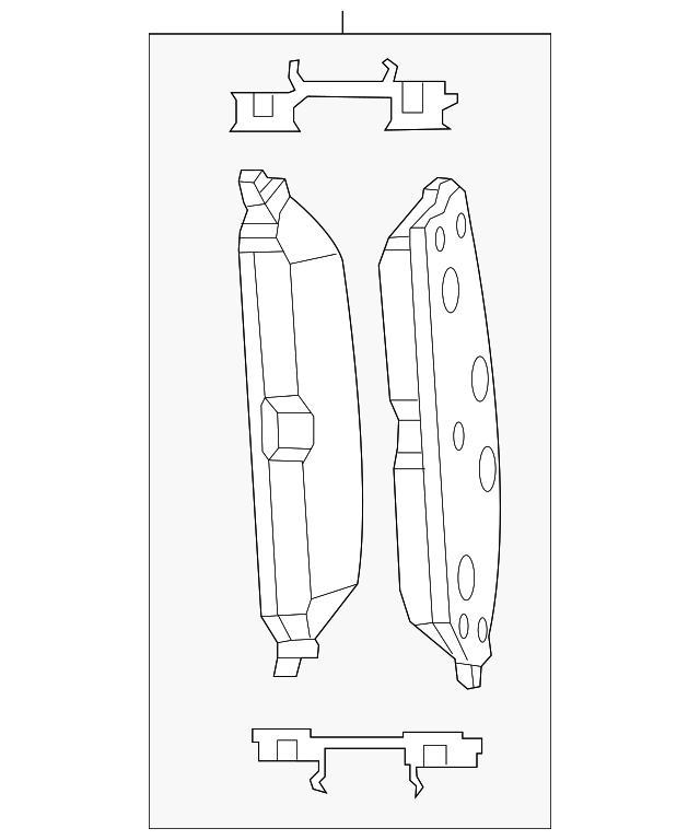CHRYSLER OEM Brake-Front-Brake Pads 5142558AC