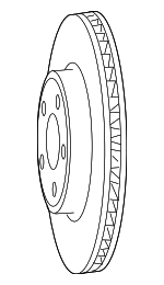 Disc Brake Rotor, Right, Left, Front
