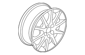 Wheel, Alloy - Saab (12785709)