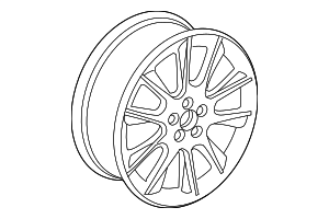 Wheel, Alloy - Saab (12763042)