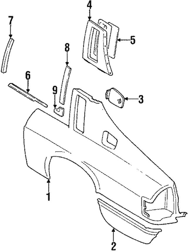 1984 1991 Jaguar Xjs Lock Pillar Trim Bd45172