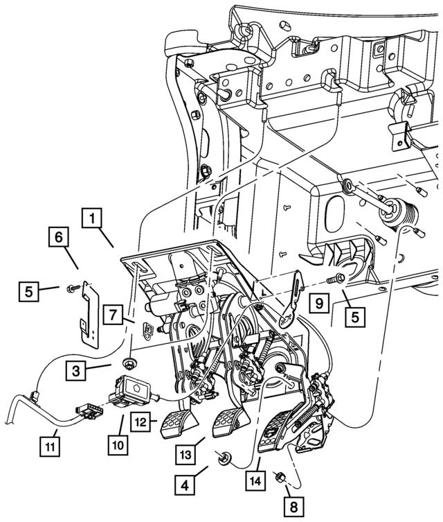 2003 2004 Dodge Viper Convertible Wiring Harness Bracket 5029211aa