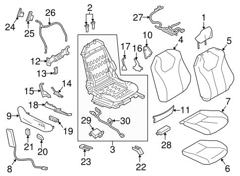 Air Bag Components For 2017 Infiniti Q60