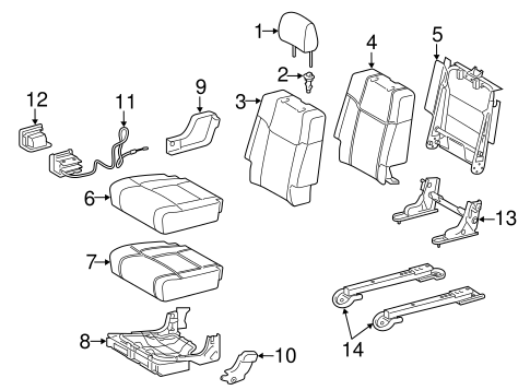 BODY/REAR SEAT COMPONENTS for 2015 Toyota Tundra #2