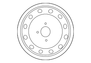 Wheel, Steel - Nissan (40300-1E407)