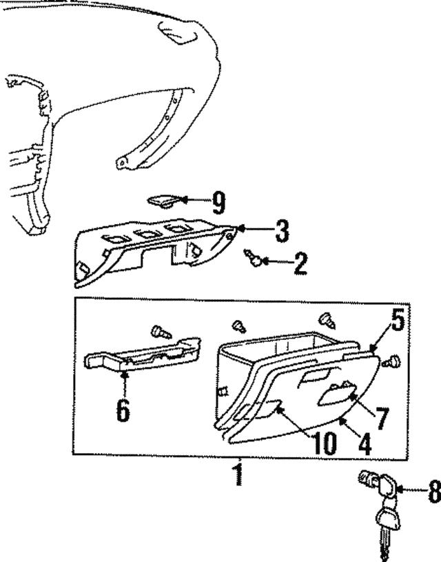 Genuine Hyundai 84513-27501 Glove Box Guide Panel