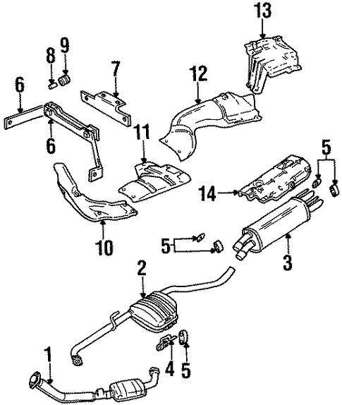 2000 Cadillac Catera Exhaust Diagram