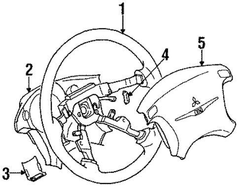 Steering Wheel Trim For 1999 Chrysler Sebring