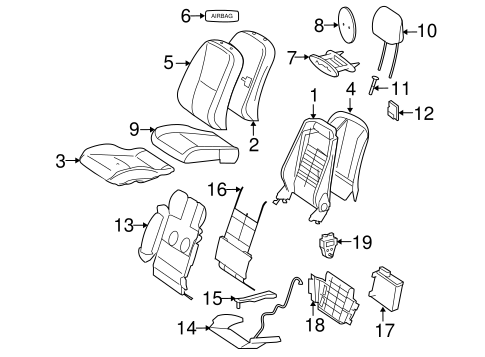 Front Seat Components For 2010 Mercedes Benz S 400
