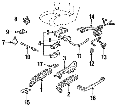Tracks & Components for 1998 Oldsmobile Intrigue #1