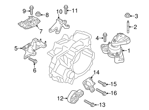 Engine/Engine & Trans Mounting for 2015 Ford Explorer #1