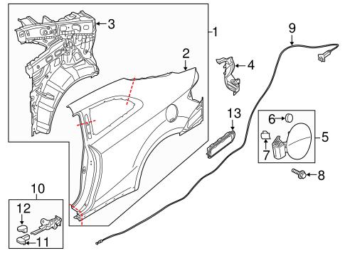 Quarter Panel Components For 2016 Kia Forte Koup